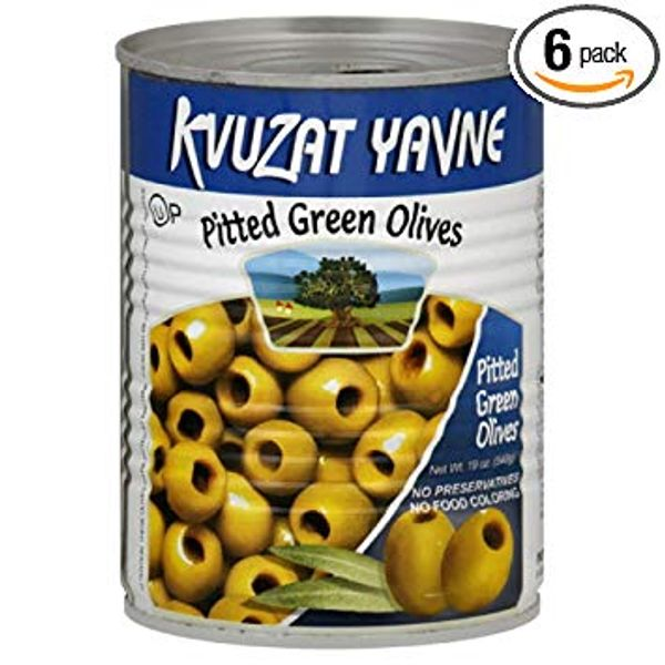 Baraka Israel Green Pitted Olives